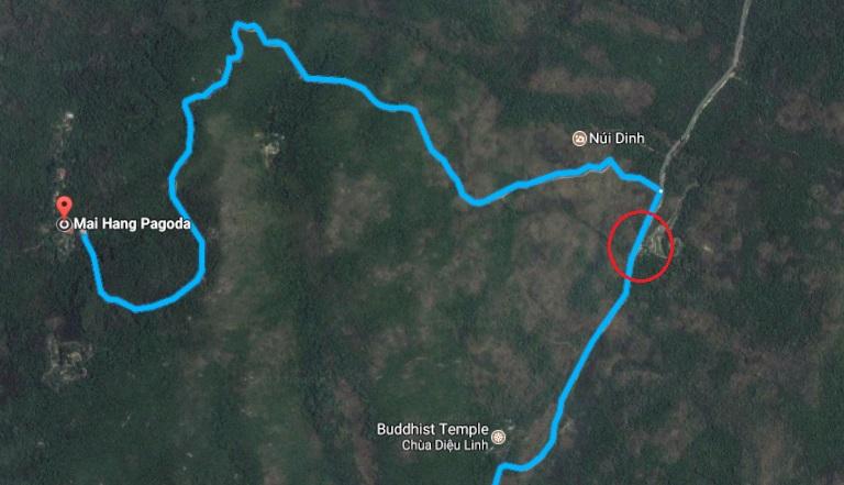 Chỗ gửi xe leo núi Dinh