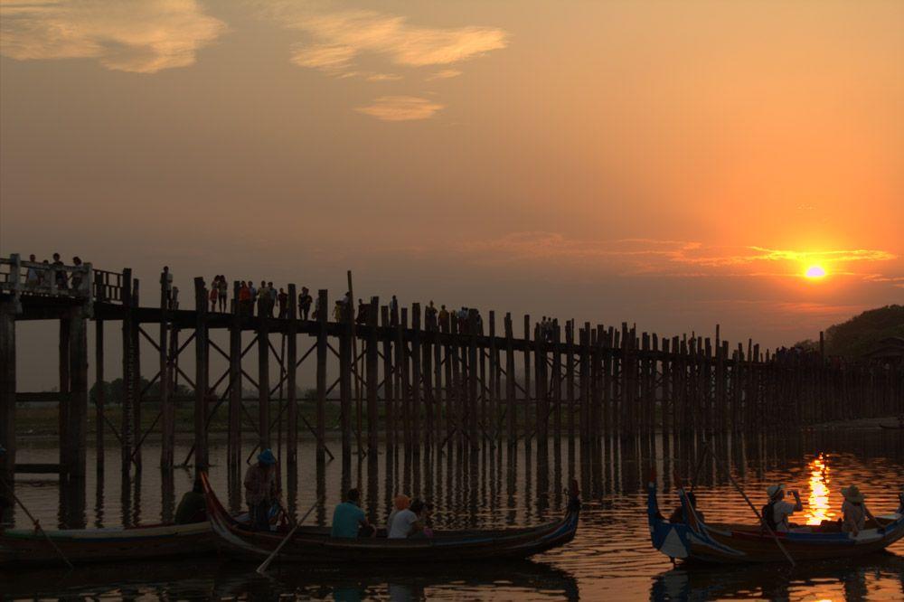 Chia sẻ kinh nghiệm du lịch bụi Myanmar 17 - Cầu U Bein