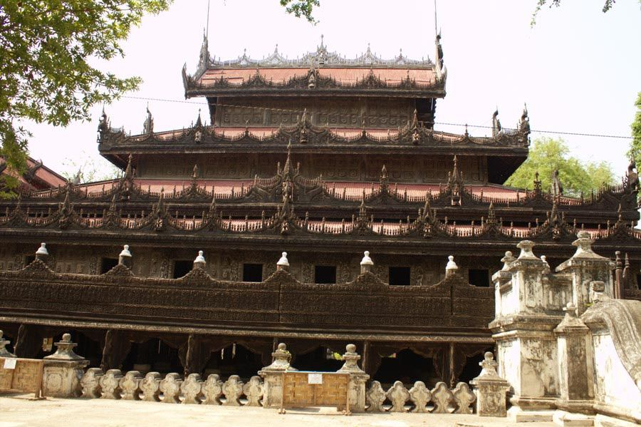 Chia sẻ kinh nghiệm du lịch bụi Myanmar 21 - tu viện Shwenandaw Monastery