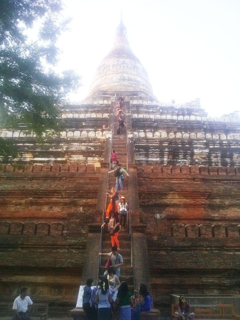 Chia sẻ kinh nghiệm du lịch bụi Myanmar 6 - Đền Shwesandaw
