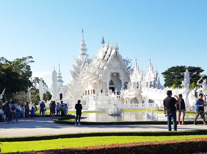 Kinh nghiệm du lịch bụi Thái Lan 12 - Đền Trắng White Temple