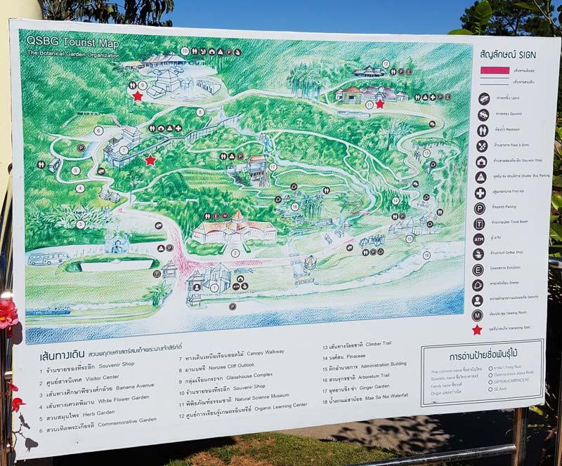 Kinh nghiệm du lịch bụi Thái Lan 22 - Bản đồ Queen Sirikit Botanic Garden