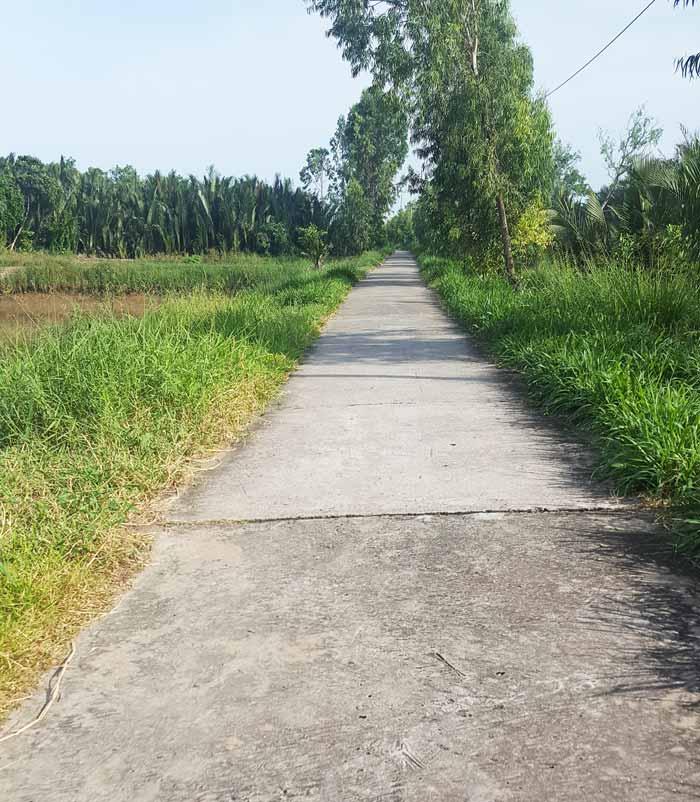 Khám phá 9 cửa sông của hệ thống sông Cửu Long 29 - Đường lót tấm đan