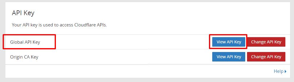 cài đặt dịch vụ Cloudflare 11 - Get Cloudflare API key
