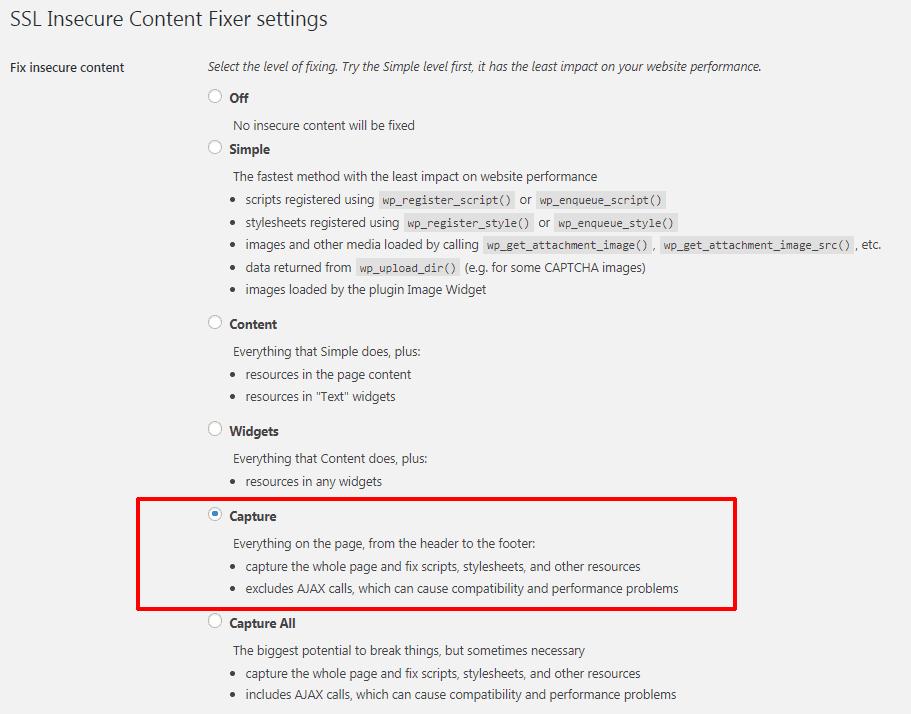 cài đặt dịch vụ Cloudflare 17 - setting plugin SSL secure content
