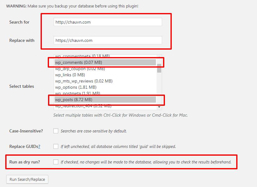 cài đặt dịch vụ Cloudflare 18 - Plugin Better Search Replace