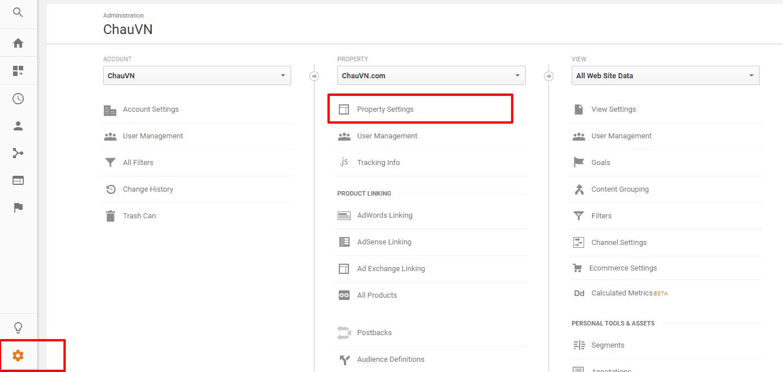 cài đặt dịch vụ Cloudflare 23 - Google analytics property