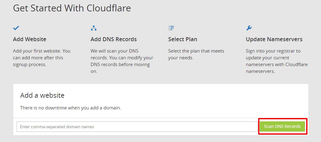 cài đặt dịch vụ Cloudflare 3 - Add website