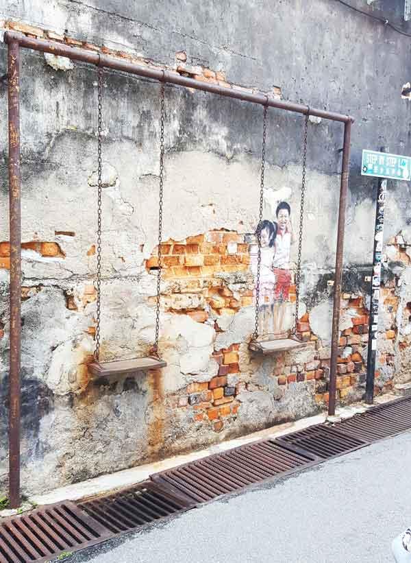 Chia sẻ kinh nghiệm du lịch bụi Penang Malaysia 14 - Penang Street Art