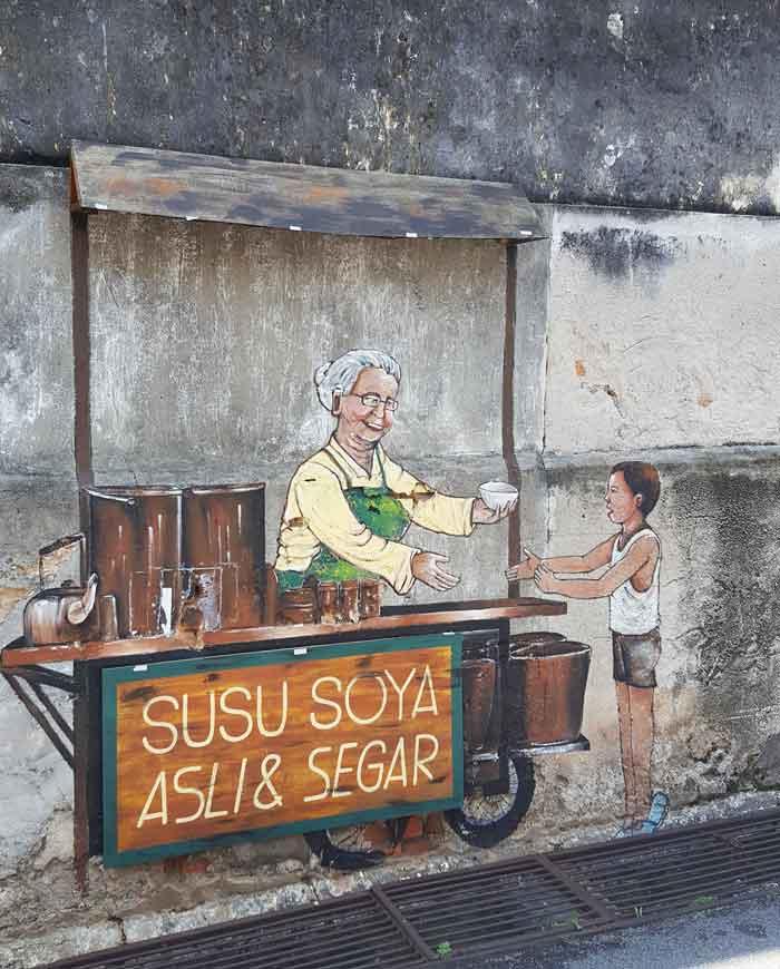 Chia sẻ kinh nghiệm du lịch bụi Penang Malaysia 15 - Penang Street Art