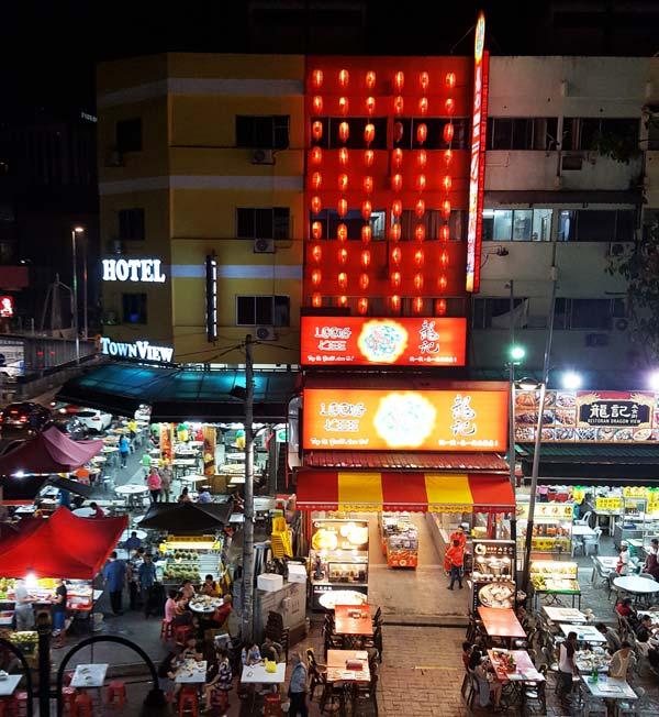 Chia sẻ kinh nghiệm du lịch bụi Malaysia - Đầu đường Jalan Alor