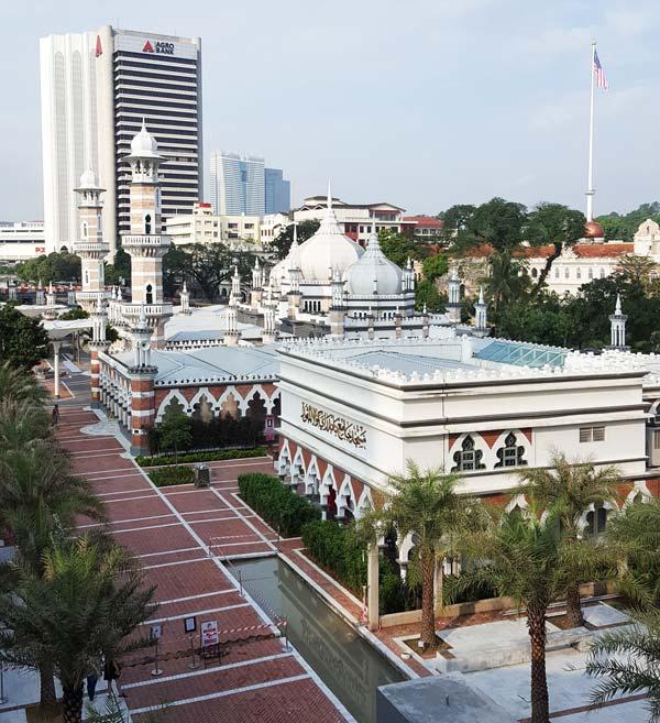 Chia sẻ kinh nghiệm du lịch bụi Malaysia - nhà thờ hồi giáo Masjid Jamek