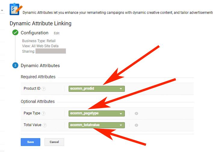 Hướng dẫn Cài đặt Google Dynamic Remarketing 14 - Chọn custom dimensions