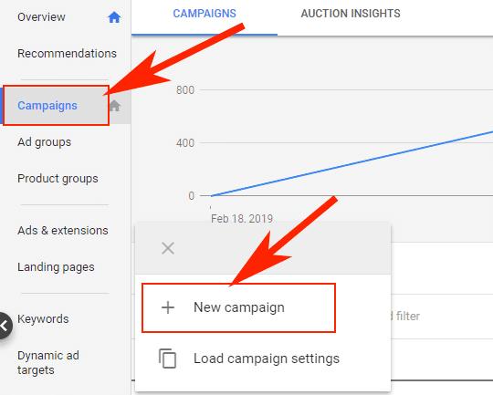 Hướng dẫn Cài đặt Google Dynamic Remarketing 18 - New Google Ads campaign
