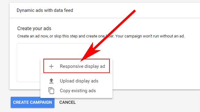 Hướng dẫn Cài đặt Google Dynamic Remarketing 26 - Reponsive display ads