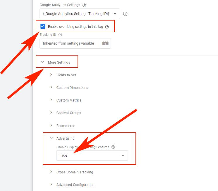Hướng dẫn Cài đặt Google Dynamic Remarketing 3 - Bật Remarketing trong GA