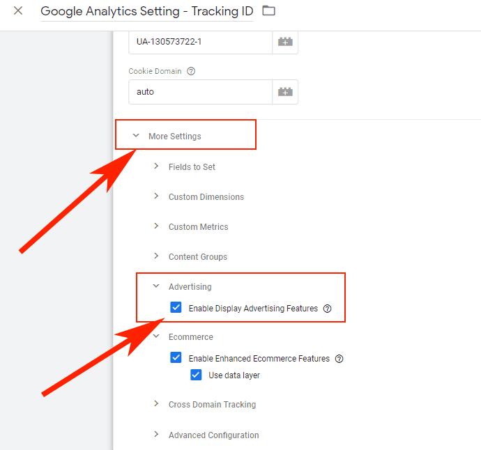 Hướng dẫn Cài đặt Google Dynamic Remarketing 4 - Bật Advertising trong GA