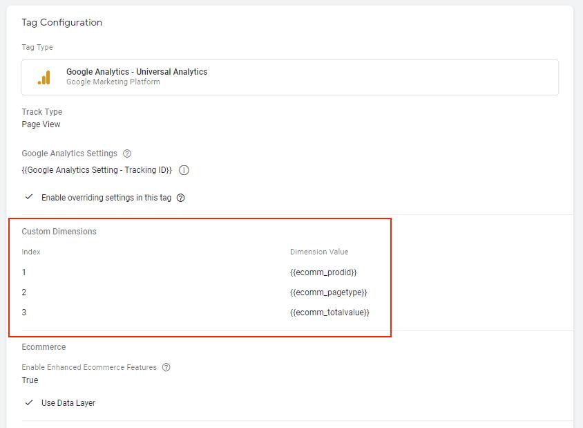 Hướng dẫn Cài đặt Google Dynamic Remarketing 9 - Custom dimenstions