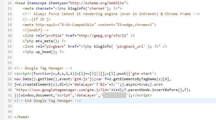 Hướng dẫn sử dụng Google Tag Manager (GTM) 16 - GTM code 1