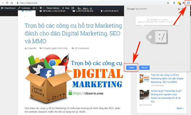 Hướng dẫn sử dụng Google Tag Manager (GTM) 18 - Check GTM active 1