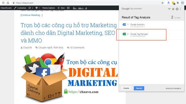 Hướng dẫn sử dụng Google Tag Manager (GTM) 19 - Check GTM active 2