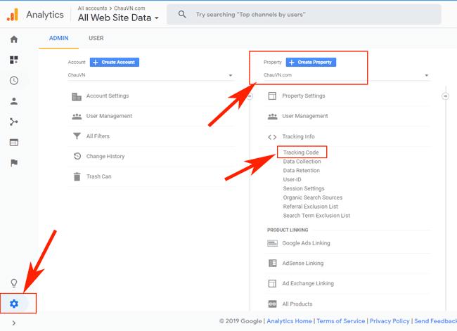 Hướng dẫn sử dụng Google Tag Manager (GTM) 20 - Get Google Analytics ID