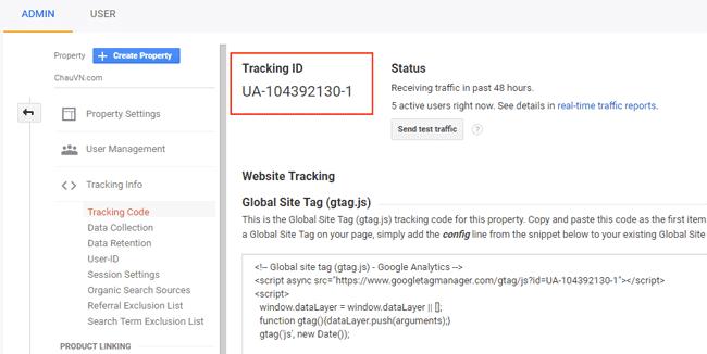 Hướng dẫn sử dụng Google Tag Manager (GTM) 21 - Get Google Analytics ID 2