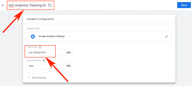 Hướng dẫn sử dụng Google Tag Manager (GTM) 26 - Name GA Variable