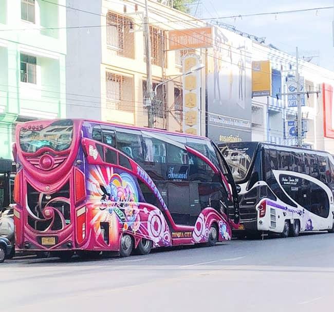 Xe Bus 2 tầng đi từ Bangkok đến Krabi siêu êm và sạch sẽ